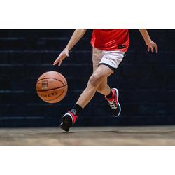 兒童款簡易初階籃球鞋SE100-黑色/紅色