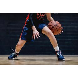 Zapatilla Baloncesto Tarmak SS500H Niños Azul Gris