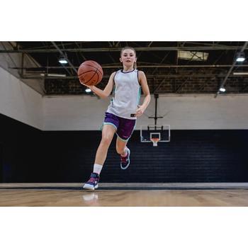 Kids' Mid Basketball Socks For Intermediate Players Twin-Pack - White