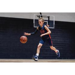 Basketbalschoenen SS500H marineblauw/grijs (kinderen)