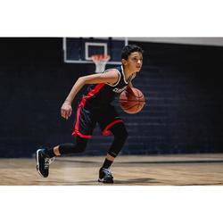 Basketbalshirt omkeerbaar jongens/meisjes halfgevorderde grijs zwart Clev T500R