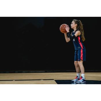 Basketbalshort voor gevorderde jongens/meisjes marineblauw roze SH500