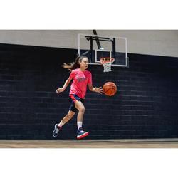 Basketbalshort SH500 marineblauw/roze (kinderen)