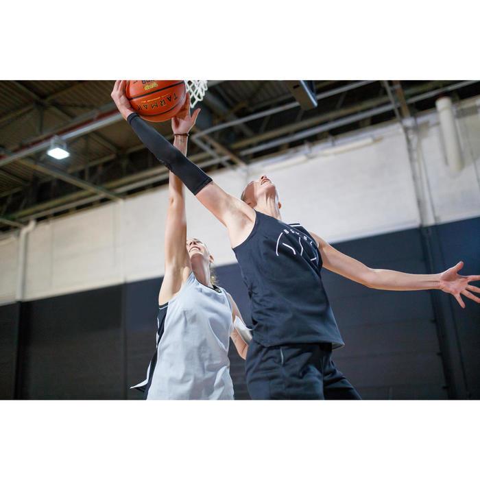 Wendetrikot Basketball T500 Damen schwarz/grau
