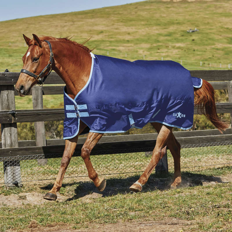 LIGHTWEIGHT TURNOUT RUGS Horse Riding - SAXON 600D STANDARD LITE WEATHERBEETA - Saddlery and Tack