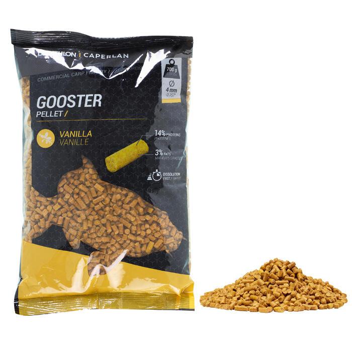Gooster pellets vanille 4 mm 0,7 kg voor karpervissen met vaste hengel