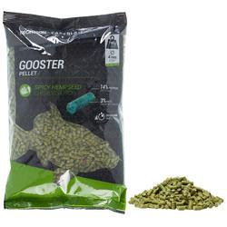 Gooster pellets hennep 4 mm 0,7 kg voor statisch hengelen op karpers