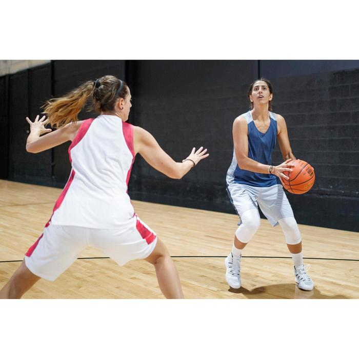 Basketbalshort SH500 wit/roze (dames)