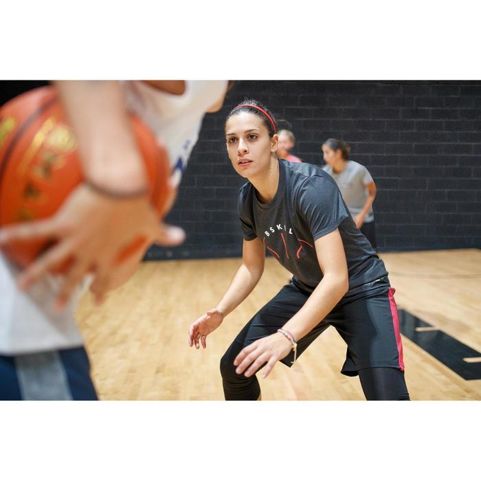 Basketballshirt TS500 Damen Fortgeschrittene dunkelgrau