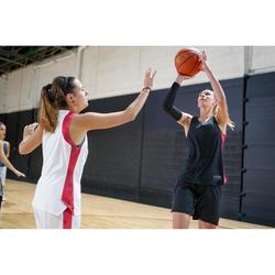 Basketbalshirt voor dames zwart roze T500