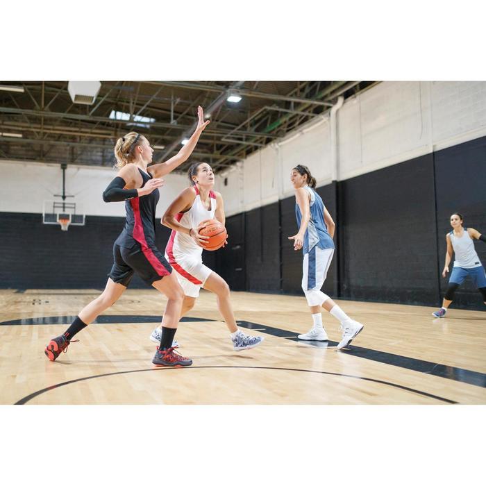 Basketballshorts SH500 Damen schwarz/rosa