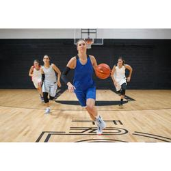 CHAUSSURES DE BASKETBALL FEMME GRIS BLEU ROSE SC500 HIGH