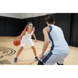 Basketballshorts SH500 Damen weiß/rosa