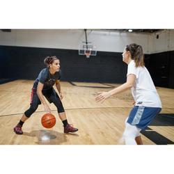 Basketbalshort dames zwart roze SH500