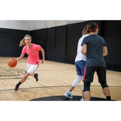 Basketbalschoenen voor dames SC500 High zwart/roze