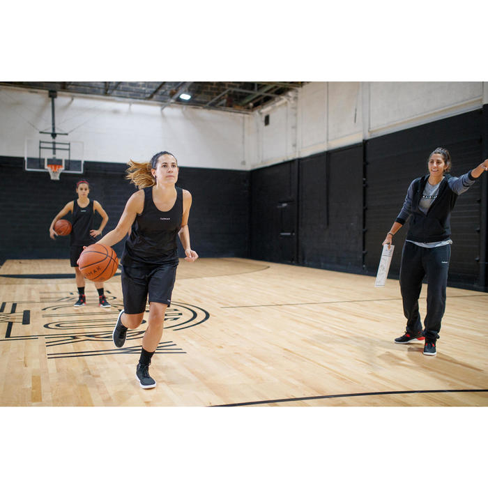 Basketballtrikot T100 Damen schwarz