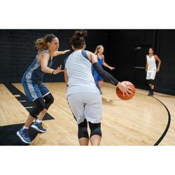 Basketballtrikot T500 Damen marineblau/grau