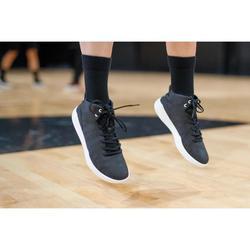 男女通用款初階高筒籃球鞋Protect 100-黑色