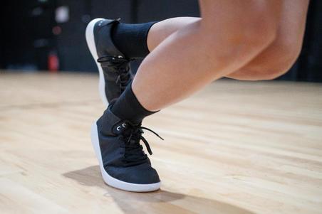 Chaussure basketball tige haute PROTECT 100 noir - Hommes/Femmes débutants