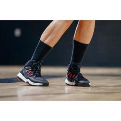 CHAUSSURES DE BASKETBALL FEMME NOIR ROSE SC500 HIGH