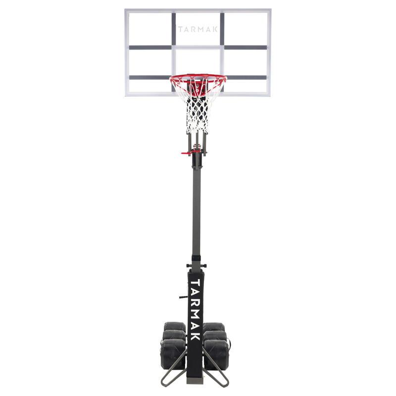 B900 兒童/成人款籃球架-2.4 m到3.05 m可在2分鐘內快速裝設與收納。