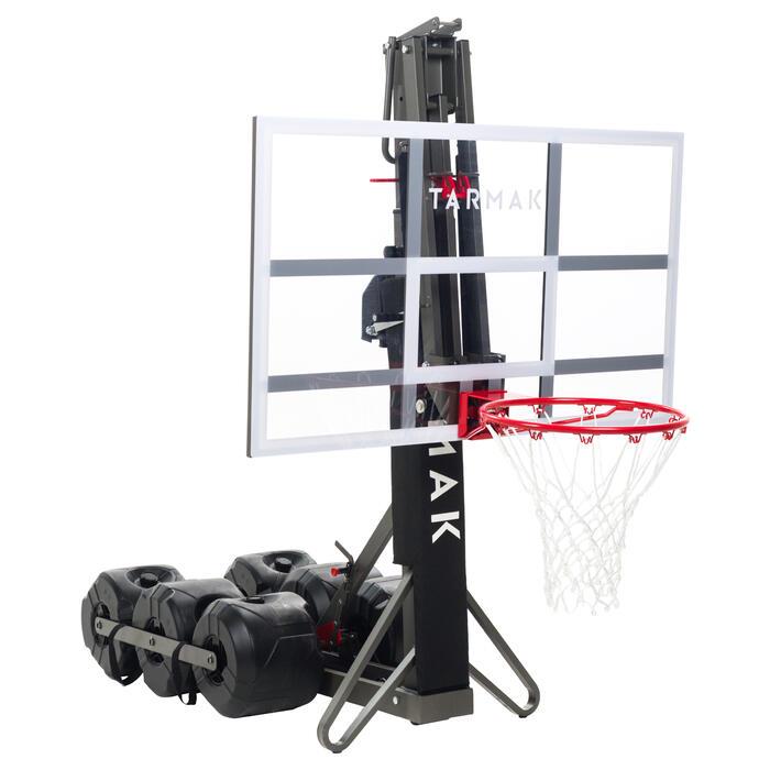 Basketbalpaal B900 kind/volw. 2,40-3,05 m. Afgesteld en opgeborgen in 2 min.