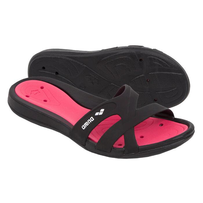 Badslippers voor zwembad dames Hook zwart/roze