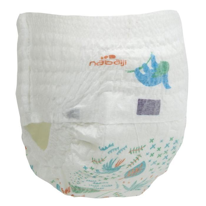 Bañador Pañal Bebe Piscina Natación Nabaiji Blanco/Azul Claro