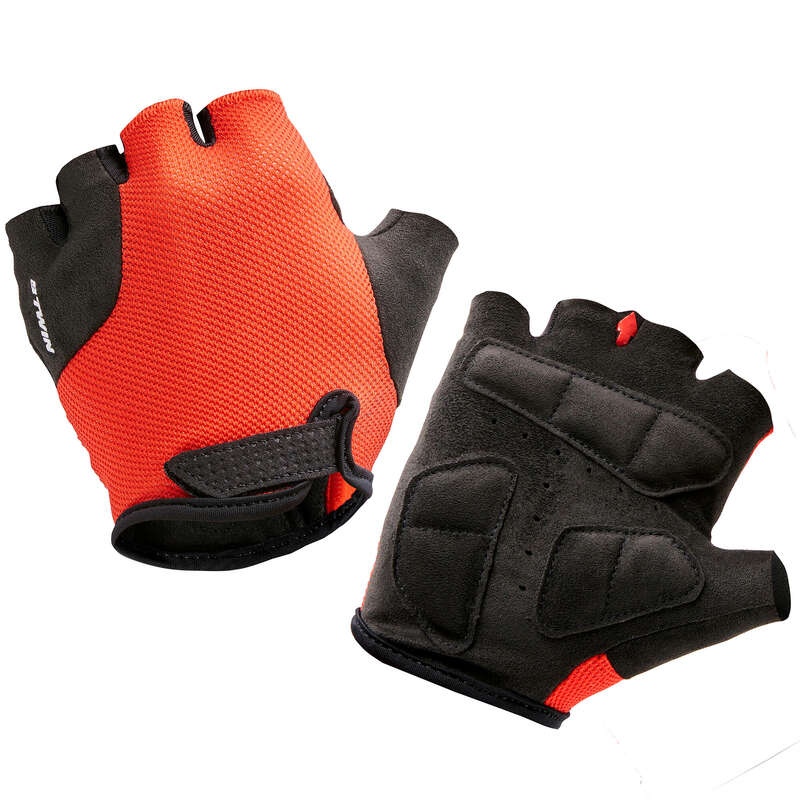 JR MTB ROAD WARM WEATHER APPAREL Cycling - 500 Kid's Cycling Gloves - Red B'TWIN - Clothing