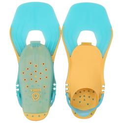 SNK 500 Kids' Snorkelling Fins adjustable orange turquoise