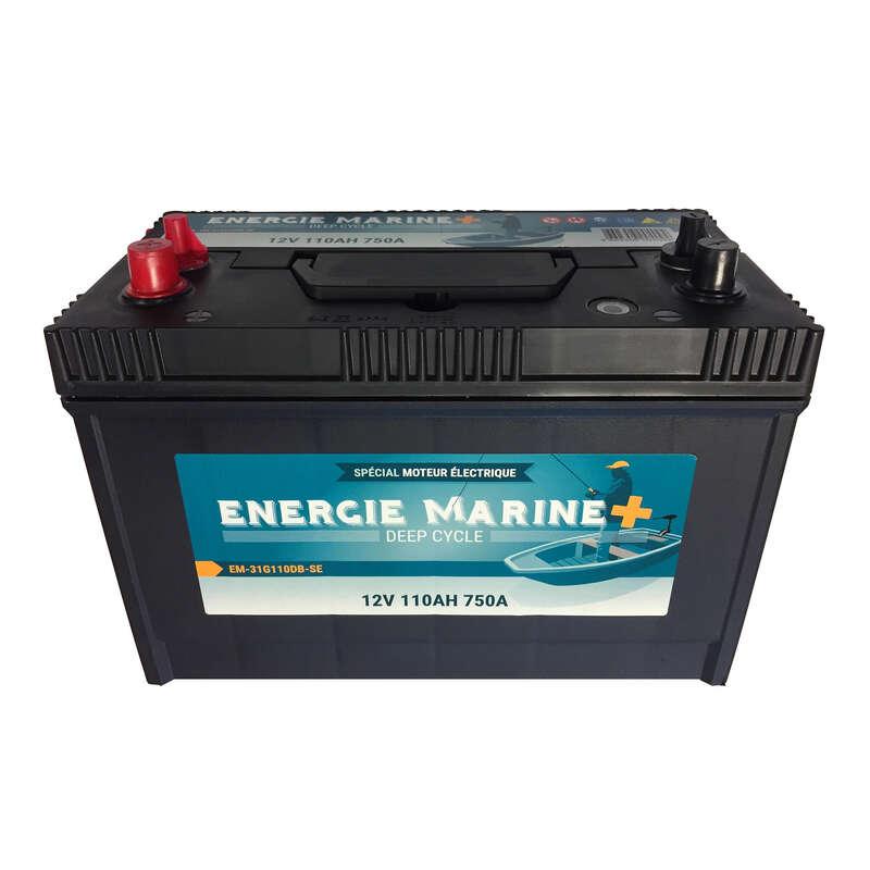 BARCHE, GOMMONI, MOTORI Pesca - Batteria MARINE 110AH ENERGIE MARINE - PESCA AI PREDATORI