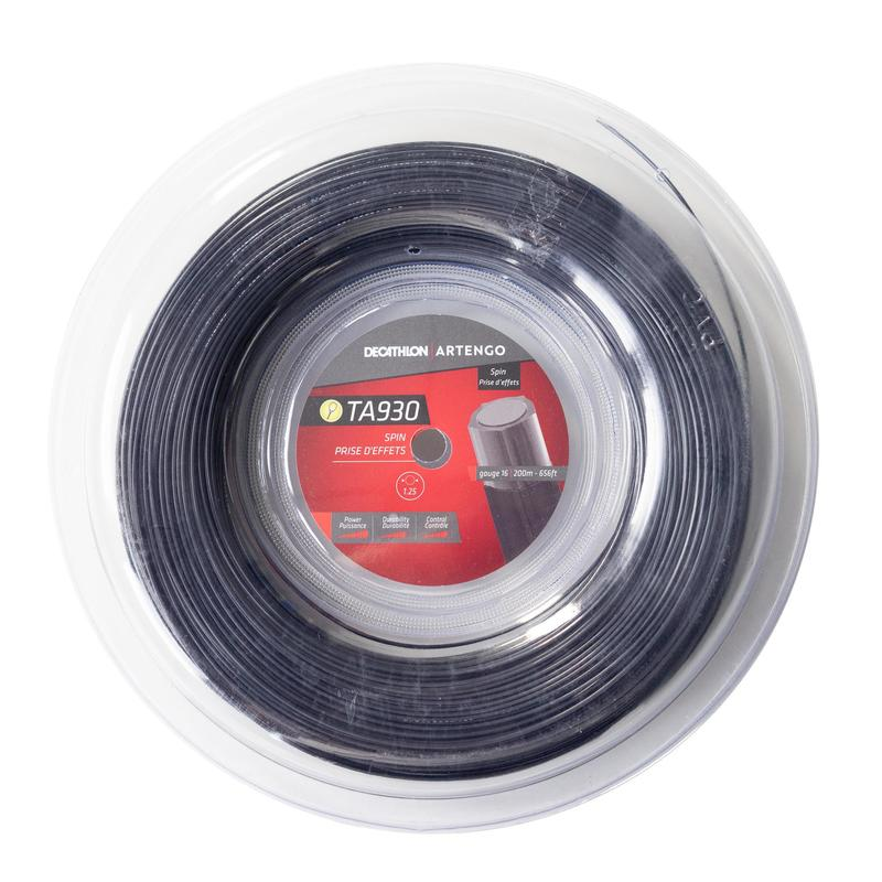 Monofilamentový tenisový výplet TA930 Spin 1,25 mm černý