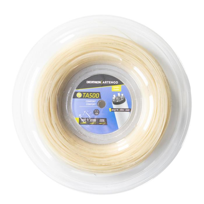 Tennisbesnaring multifilament bruin TA 500 Comfort 200 M diameter 1,35 mm