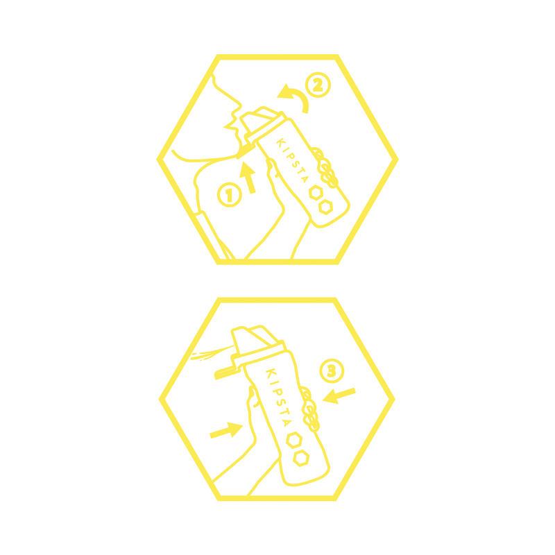 Botella higiénica 1 litro blanca amarilla