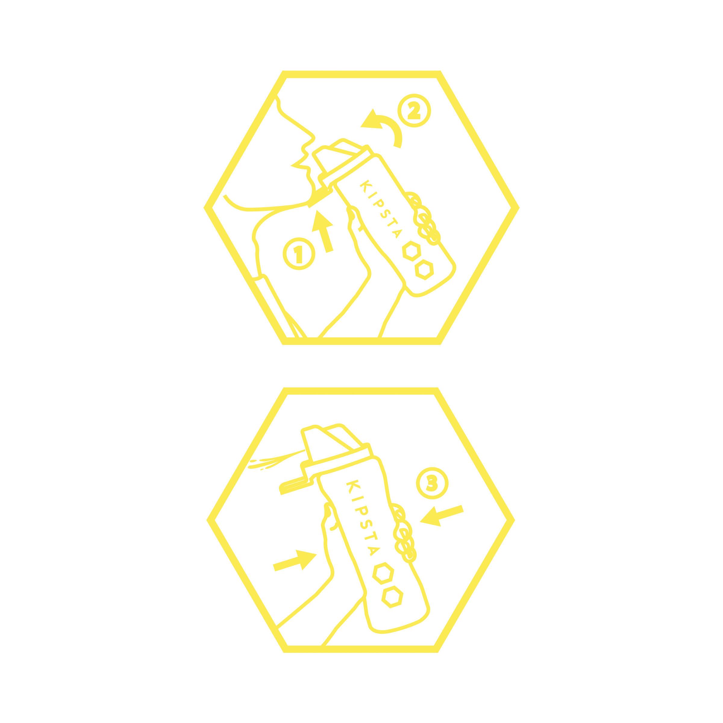 Hygienic 1 Litre Water Bottle - White/Yellow