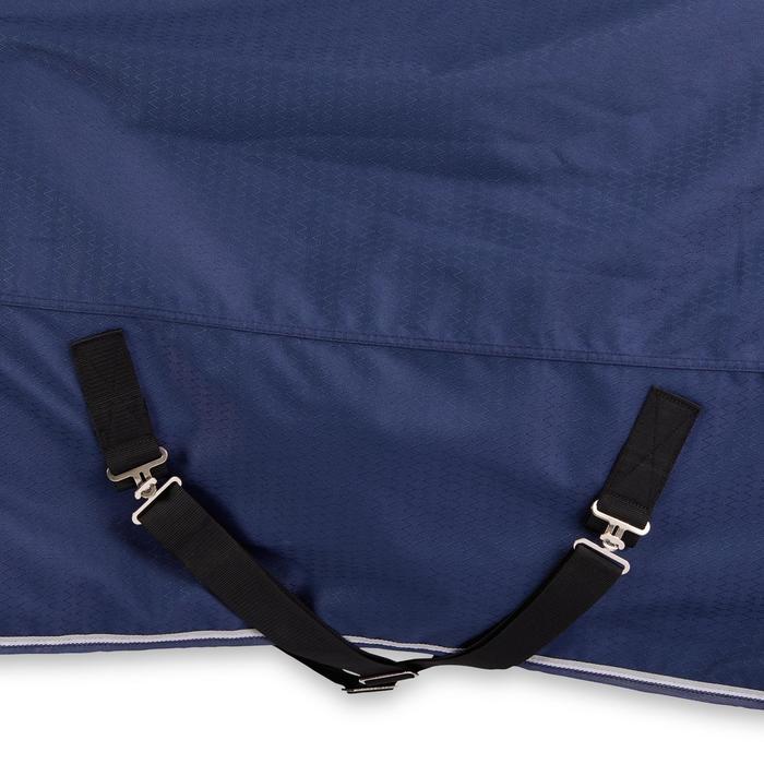 Couverture imperméable équitation cheval et poney ALLWEATHER 300 1000D bleu