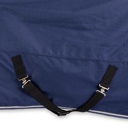 Couverture imperméable équitation poney ALLWEATHER 300 1000D bleu nuit