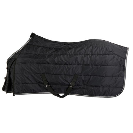 Stable 200 Horseback riding Stable Rug for Horse and Pony - Black
