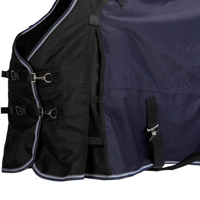 Waterdichte outdoordeken ruitersport pony paard Allweather 300 1000D blauw