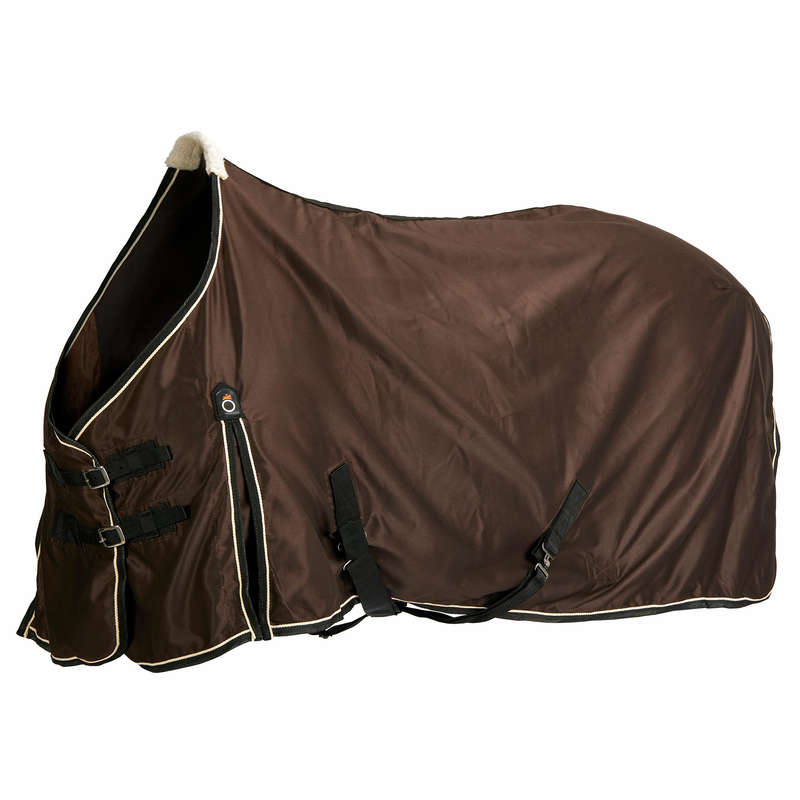 SHEETS & COOLER Horse Riding - Stable Light Rug - Brown FOUGANZA - Saddlery and Tack