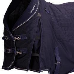 Manta Cuadra Equitación Fouganza STABLE 400 azul marino Caballo y Poni