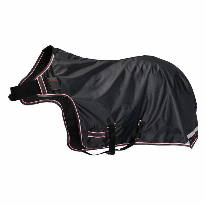 Manta Ligera Andador Equitación Fouganza EXERCISE Negro Caballo
