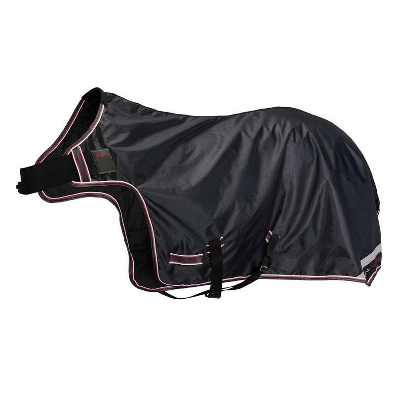 COPRIRENI Equitazione - Coperta coprireni impermeabile EXERCISE nera FOUGANZA - Scuderia e Paddock