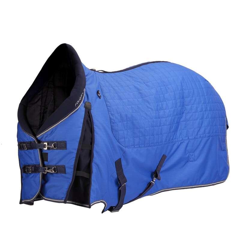 Derki zimowe stajenne Jeździectwo - Derka stajenna Stable 400 nieb FOUGANZA - Dla konia