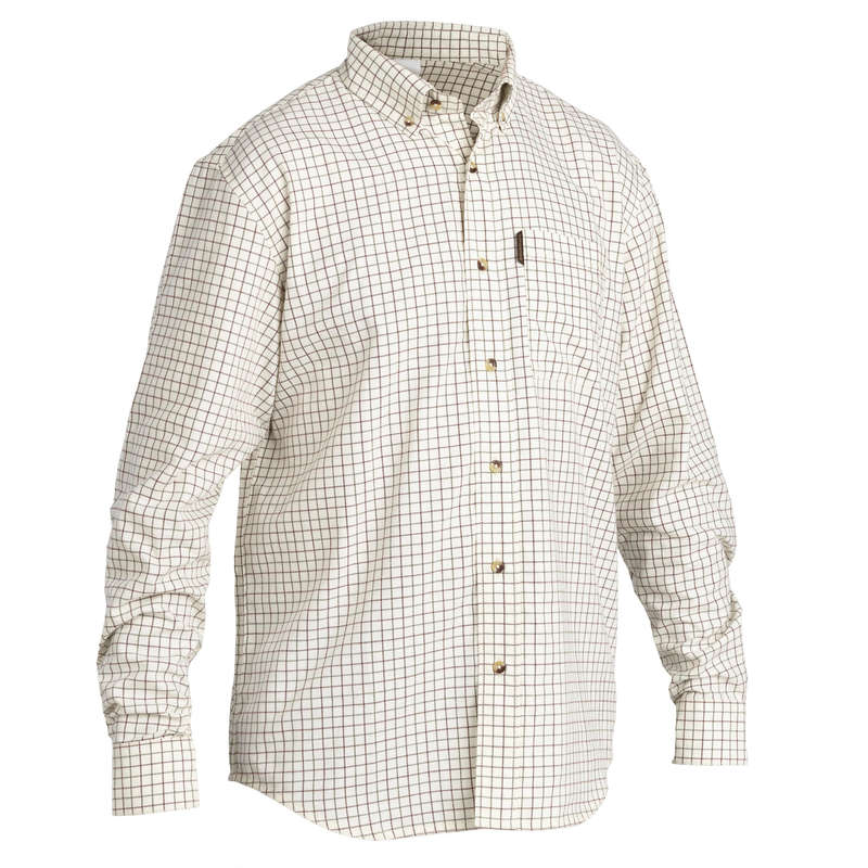 TROUSERS/SHIRTS Shooting and Hunting - CHECKED SHIRT 100 ML SOLOGNAC - Hunting and Shooting Clothing