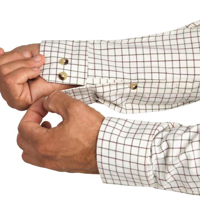Jagersoverhemd met lange mouwen en ruitjes 100 beige