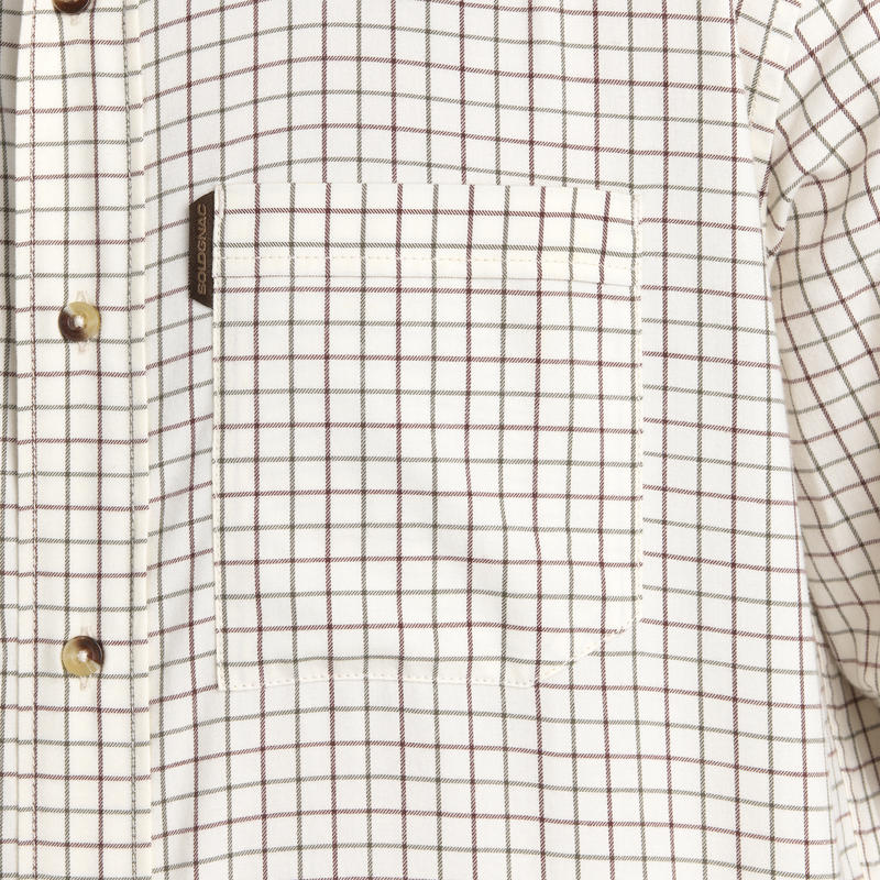 Men's Full Sleeve Shirt 100 White Check