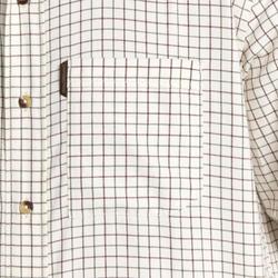 Camisa ML 100 de caça aos quadrados, manga comprida em branco.