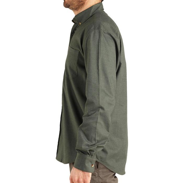 Camisa Caza Solognac 500 Manga Larga Verde