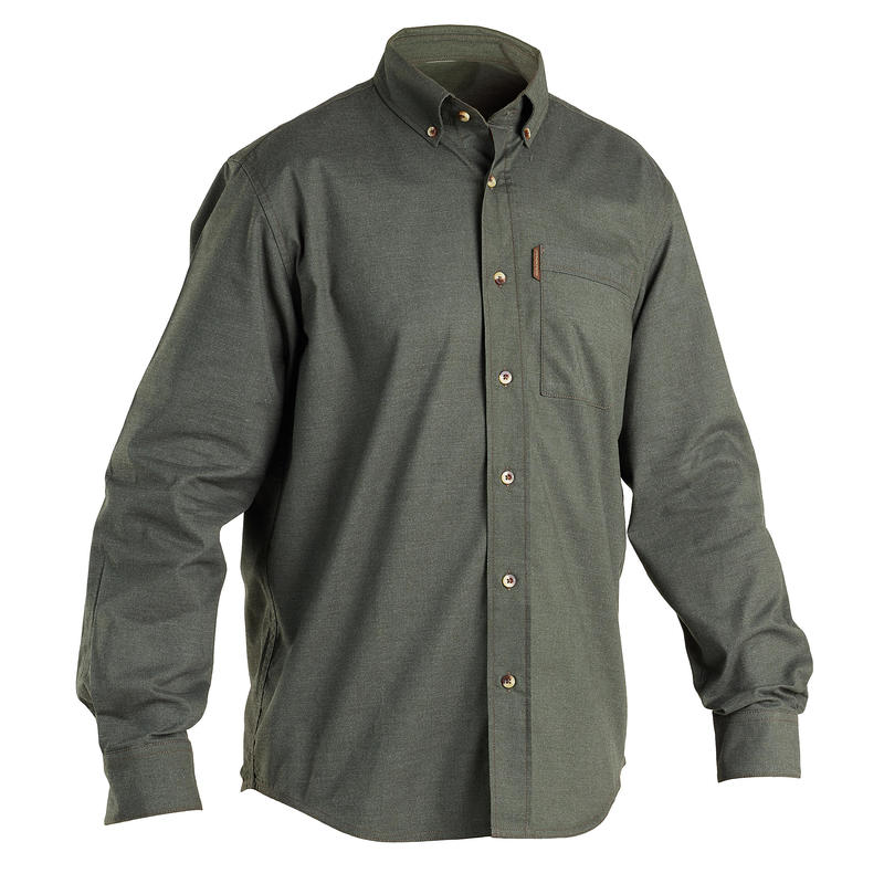 Chemise chasse manches longues 100 vert